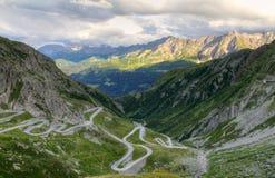Paso de montaña de Gotthard, Suiza imagen de archivo libre de regalías