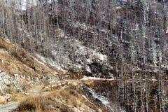 Paso de montaña en Aliai Imagenes de archivo