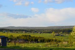 Paso de montaña Ural grande imágenes de archivo libres de regalías