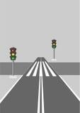 Paso de peatones. Stock de ilustración