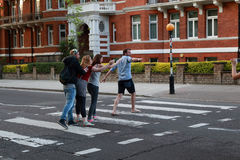 Paso de peatones a Abbey Road, Londres Imágenes de archivo libres de regalías