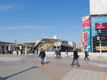 Paso de peatones cerca de Ueno Imagen de archivo libre de regalías