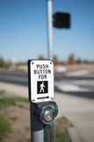 Paso de peatones del botón Fotografía de archivo