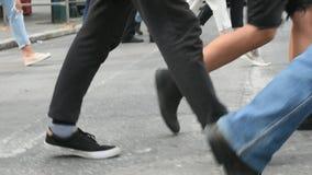 Paso de peatones el d3ia de la calle almacen de video