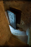 Paso de piedra secreto de la entrada Foto de archivo
