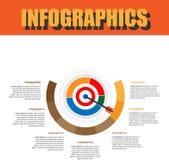 Paso de proceso Infographics Foto de archivo libre de regalías