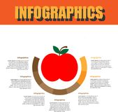 Paso de proceso Infographics Imagenes de archivo