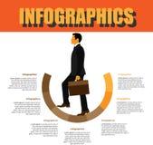 Paso de proceso Infographics Fotos de archivo libres de regalías