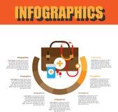 Paso de proceso Infographics Fotografía de archivo libre de regalías