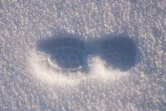 Paso de progresión del pie en nieve Fotografía de archivo libre de regalías