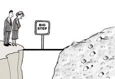 Paso de progresión grande stock de ilustración