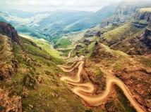 Paso de Sani abajo en Suráfrica Imagenes de archivo