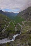 Paso de Trollstigen, Noruega Imagenes de archivo