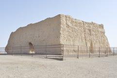 Paso de Yumen, construcción hace de 2000 años Imagen de archivo libre de regalías