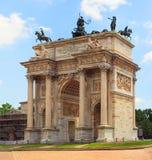 Paso del della de Arco, Milano Foto de archivo libre de regalías