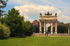 Paso del della de Arco, Milano Fotos de archivo libres de regalías