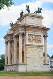 Paso del della de Arco, Milano Imágenes de archivo libres de regalías