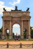 Paso del della de Arco, Milano Fotografía de archivo