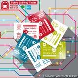 Paso del subterráneo de Tokio Ilustración del vector stock de ilustración