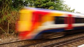 Paso del tren rápido Foto de archivo libre de regalías