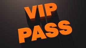 Paso del VIP Imágenes de archivo libres de regalías