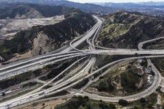 Paso el condado de Los Angeles aéreo California de Newhall Fotos de archivo libres de regalías
