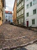 Paso en distrito del castillo de Praga Foto de archivo libre de regalías