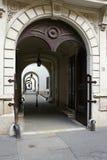 Paso en el centro histórico de Sopron Imagen de archivo
