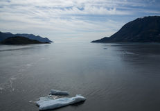 Paso helado de los estrechos en Alaska Fotografía de archivo libre de regalías
