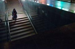 Paso inferior de la noche Fotografía de archivo
