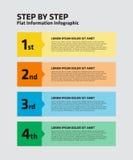 4 paso Infographic stock de ilustración