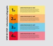 4 paso Infographic ilustración del vector