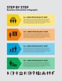 4 paso Infographic con los iconos de la empresaria libre illustration