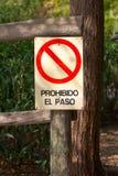 Paso prohibido Fotografía de archivo libre de regalías