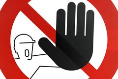 Paso prohibido PARADA de la señal de tráfico Imágenes de archivo libres de regalías