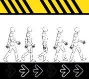 Paso que camina del hombre Imagen de archivo