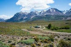Paso Roballos - frontière vers l'Argentine Photo libre de droits