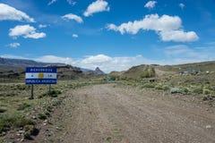 Paso Roballos - gräns till Argentina II Arkivfoto