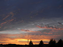 Paso Robles Sunset Royalty Free Stock Photography