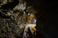 Paso subterráneo del túnel de la mina de oro Fotografía de archivo