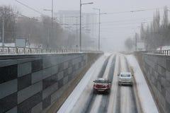 Paso subterráneo en Bucarest, Rumania Imagen de archivo libre de regalías