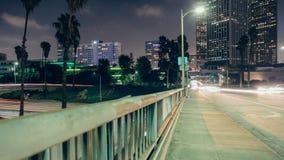 Paso superior céntrico de Los Ángeles almacen de metraje de vídeo