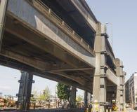 Paso superior concreto en Seattle Foto de archivo libre de regalías