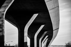 Paso superior de la autopista sin peaje Fotos de archivo