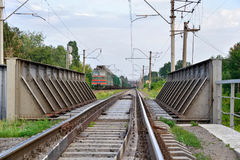 Paso superior del ferrocarril Imágenes de archivo libres de regalías