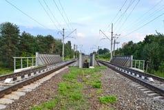 Paso superior del ferrocarril Foto de archivo