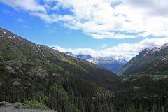 Paso y ruta blancos de Yukon fotos de archivo libres de regalías