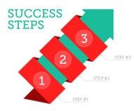 Pasos al éxito 2 Foto de archivo libre de regalías