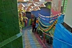 Pasos al pueblo colorido de Jodipan Malang imagen de archivo