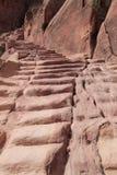 Pasos antiguos, Petra Imagen de archivo libre de regalías